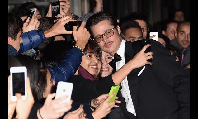 Brad Pitt at London Film Festival closer Fury